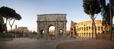El Arco de Constantino es el arco triunfal más grande de Roma