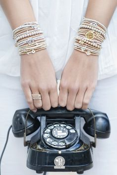 Stacked mixed metal bracelets