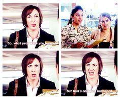 I love Miranda Hart! and yes, I still think 1991 was just over ten years ago . British Sitcoms, British Comedy, Miranda Tv Show, Miranda Bbc, Miranda Hart Quotes, Miranda Hart Funny, Bae, Call The Midwife, Frases