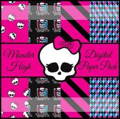 Kit Festa Monster High Para imprimir Grtis  Monster high