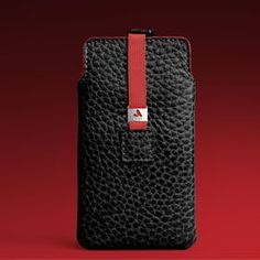 Black & Red Samsung Galaxy leather case