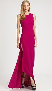 Diane Von Furstenberg AYYA asymmetrical gown (What a sexy way to show off ones fabulous shoes!)