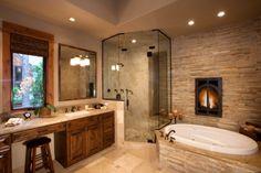 Master Bathroom Remodeling Ideas | rowland tahoe master bath this master bath is accentuated by a ...