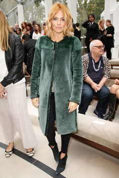 Sienna Miller in the front row at Burberry Spring 2016