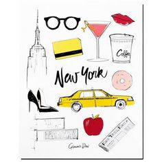 Garance Dor� Goods New York Poster Black, White, Yellow, Pink, Red By ($45) ❤ liked on Polyvore featuring home, home decor, wall art, artwork, yellow home accessories, white home decor, red home decor, red home accessories and black home decor