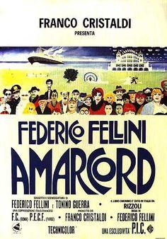 Amarcord es una película franco-italiana de 1973, escrita y dirigida por Federico Fellini, con un guion de Tonino Guerra y música de Nino Rota.