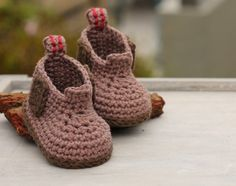Boys Crochet Pattern baby Steelcap Ryder Boot por Inventorium