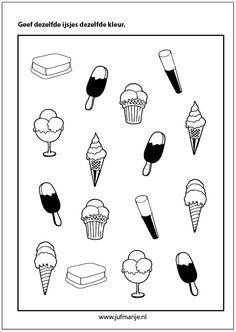 kleur dezelfde ijsjes Summer Crafts For Kids, Summer Activities For Kids, Diy For Kids, Preschool Worksheets, Preschool Activities, Toddler Play, Learning Through Play, Educational Games, Speech And Language
