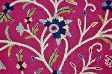 Custom Crewel Embroidered Upholstery Fabric #3320