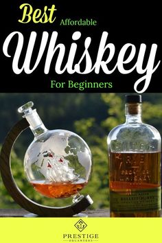 Learn about the best affordable whiskey for beginners - the journey will help you build an appreciation for different whiskey tastes. Read about the best options available and see our amazing Prestige Decanters! Farmhouse Light Fixtures, Farmhouse Lighting, Rustic Lighting, Lighting Ideas, Best Affordable Whiskey, Rustic Home Interiors, Home Interior Design, Interior Ideas, Bourbon Drinks