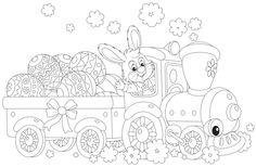 målarbild, målarbilder, gratis, gratis målarbild, barn, målarbild för barn, målarbilder för barn, färglägga, påsk, påsken, påskpyssel, mandala, zentangle, påskbild, påskbilder, hare, påskharen, kanin, tåg, lok, påskägg