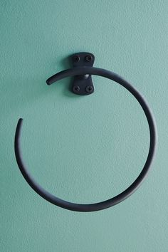 Streamline Towel Ring by Anthropologie in Black, Hardware