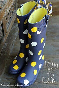 Lots Of Dots Rainboot - Womens Chooka Boots, Rubber Rainboots ...