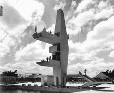 """furtho: """"João Batista Vilanova Artigas' diving platform, Brazil, 1960s"""""""