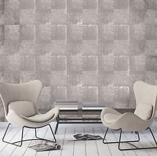 Metallic Metal Panel Wallpaper Silver and Taupe Holden 65161 Blue And Gold Wallpaper, Vintage Fox, Metal Panels, Barcelona Chair, Texture Design, Building Materials, Designer Wallpaper, Taupe, Architecture