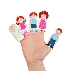 Finger Family Paper Finger Puppets DIY Craft Kit Baby by pukaca