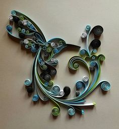 Quilled Paper Art: Hummingbird Handmade Artwork by Gericards