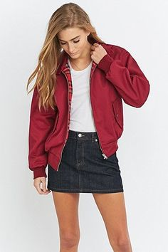 Urban Renewal Vintage Surplus - Blouson Harrington bordeaux
