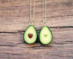 Avocado Necklaces - Best Friend Necklaces - Avocado Heart - BFF Necklaces - Food | eBay