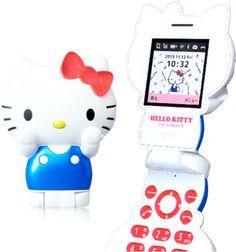 ハローキティフォン : アクセサリー感覚で持てる!   キティちゃんがそのままケータイに!        Sanrio   Hello Kitty   cellphone