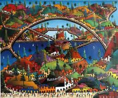 Préfète Duffaut (1 January 1923 – 6 October 2012) was a Haitian painter. Born near Jacmel, where he lived and worked. Duffaut's work has been exhibited and collected widely outside of Haiti. His body of paintings continues to be a strong influence on contemporary Haitian artists such as Prince Luc (Luckner Candio).