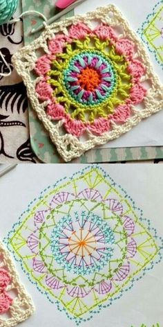 e7d872f1bc08d29f2fd6b2a18c1f0fe2.jpg (320×640) Crochet Stitches Patterns, Crochet Chart, Knit Or Crochet, Crochet Square Patterns, Crochet Gratis, Crochet Mandala, Crochet Motifs, Fleur Crochet, Crochet Diagram