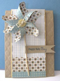 Baby Boy Card by @Laura Pryor #pinwheel