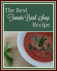 The Best Tomato Basil Soup Recipe