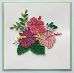 © Lan Quilling - Quilled flower cards  (Searched by Châu Khang)