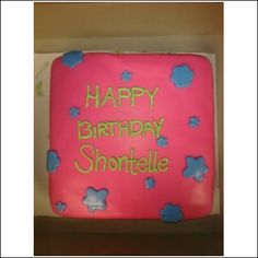Pink and Green Birthday Cake! Shontelle!