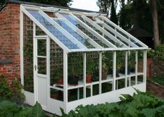 Traditional Greenhouses / Lean To's / T-Shaped at Affordable Prices Lean To Greenhouse, Greenhouse Effect, Backyard Greenhouse, Greenhouse Growing, Greenhouse Wedding, Greenhouse Plans, Cheap Greenhouse, Traditional Greenhouses, Plant Watering System