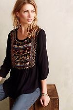 NWOT $128 Anthropologie ARI EMBELLISHED TUNIC Peasant Boho by HD in Paris