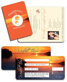 Sunset themed wedding invitation for destination wedding in Mexico by DestinationStationery.com