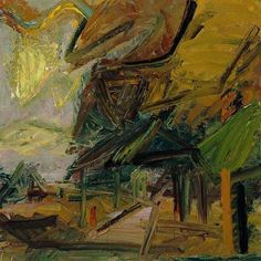Frank Auerbach Paintings In A Gallery Pictures to Pin on Pinterest - ThePinsta
