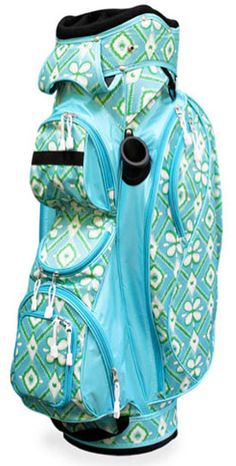 This great Golf Bag has it all! Don't miss to check out the new Ikat Bliss All For Color Ladies Cart Golf Bag. #golf #golfbags #lorisgolfshoppe