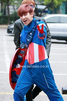 Bambam as Captain America <3 <3