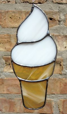 Stained Glass Ice Cream Suncatcher