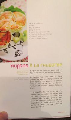 Muffins à la rhubarbe Muffins, Vanilla Sugar, Vanilla, Muffin, Cupcakes, Cupcake