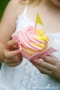 Pink Lemonade Cupcake {photo only}