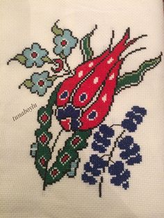 This Pin was discovered by Ayş Wool Embroidery, Ribbon Embroidery, Cross Stitch Embroidery, Embroidery Patterns, Cross Stitch Borders, Cross Stitch Flowers, Cross Stitching, Cross Stitch Patterns, Hobbies And Crafts