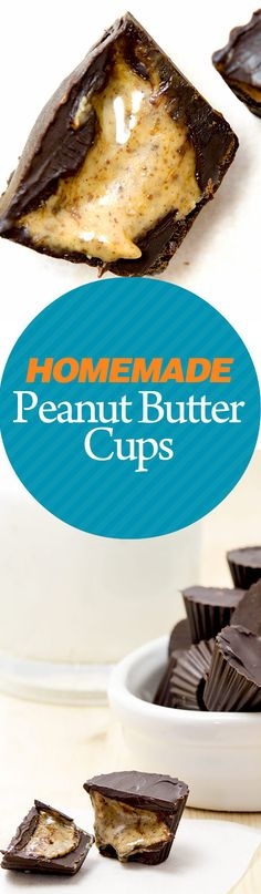 I'm proud to present one of my son's dessert recipes: homemade peanut butter chocolate cups. A healthy 3-ingredient thrill! It's incredibly easy to make. It's paleo - replace the peanut butter with almond or cashew butter -, low-carb, gluten-free and it will disappear from the plate in a snap! Use a double boiler to melt the chocolate and a mold to shape the cups. You'll also be using the freezer for this recipe, so make sure there's enough room in there. DIY peanut butter cups are the best!