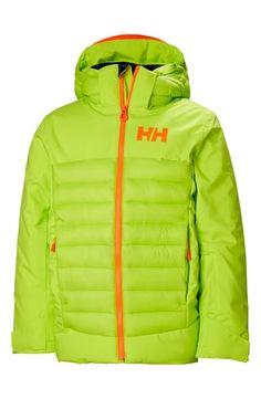 Helly Hansen Kids' Summit Waterproof Insulated Ski Jacket In Azid Lime Helly Hansen, Puffer Jackets, Big Boys, World Of Fashion, Luxury Branding, Skiing, Hooded Jacket, Rain Jacket, Windbreaker