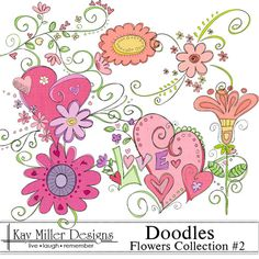 Doodles - Flowers Collection #2