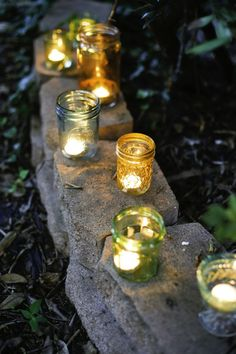 Learn how to color glass to make pretty diy votives from recycled jelly and mason jars.