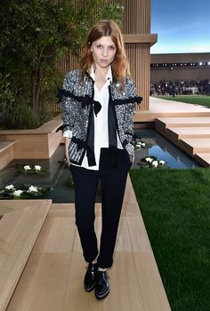 Fabulously Spotted: Clémence Poésy Wearing Chanel - Chanel Paris Fashion Week - http://www.becauseiamfabulous.com/2016/01/27/fabulously-spotted-clemence-poesy-wearing-chanel-chanel-paris-fashion-week/