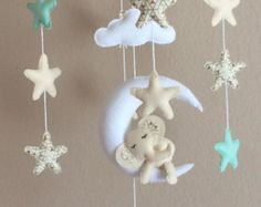 sale!!! grey and white elephant cloud and star musical mobile baby ... - Arredamento White Elephant