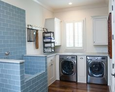 Farmhouse Laundry Room by Keystone Millworks IncThis raised pet-washing station . Farmhouse Laundry Room by Keystone Millworks IncThis raised pet-washing station would be perfect fo Basement Laundry, Farmhouse Laundry Room, Laundry Room Storage, Laundry Room Design, Laundry Rooms, Laundry Closet, Laundry Area, Garage Laundry, Farmhouse Plans