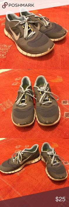 Nike Free Run 3 sneakers Sneakers bought with aspirations of working out more, sadly didn't work for me. They are in good condition and almost exclusively worn at the gym so not dirty at all Nike Shoes Athletic Shoes