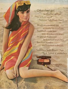 Early 70's Clairol Cosmetics Ad