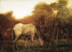 The Grazing Horse - Albert Pinkham Ryder (circa 1875)